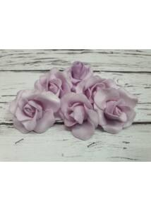 Polyfoam Rózsa virágfej 4 cm - világos lila