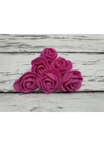 Polyfoam Rózsa virágfej 3 cm - rózsaszín