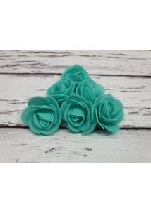 Polyfoam Rózsa virágfej 3 cm - türkiz