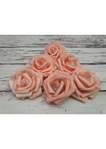 Polyfoam Rózsa virágfej 6 cm - rózsaszín